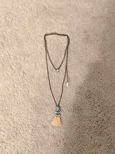 Lulu's Boho Tassel Double Layer Necklace